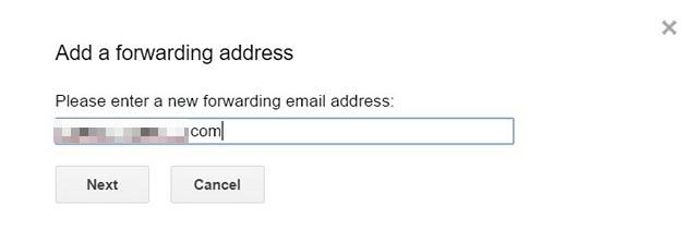 Google Mail-Add-Forwarding-Adresse