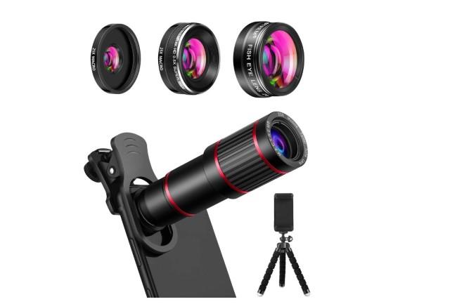 Основные аксессуары для смартфонов - комплект объектива камеры телефона