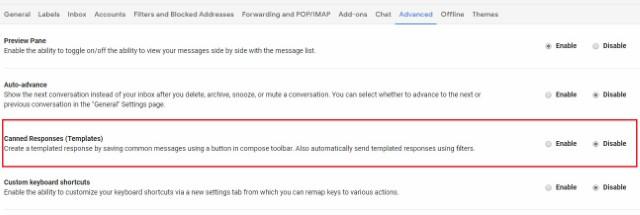 постоянные ответы на Gmail