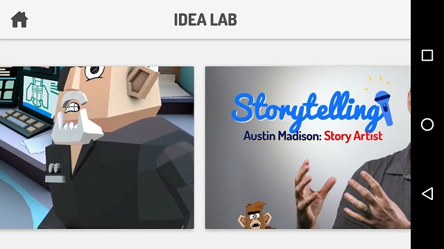 Toontastic Idea Lab screen