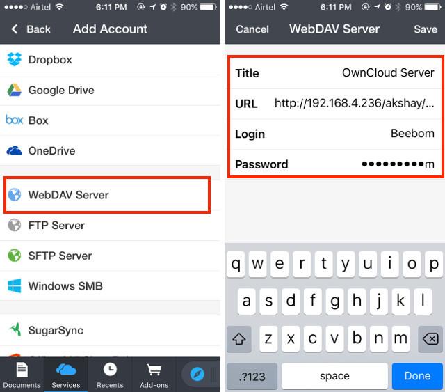 conectar webdav paso 2