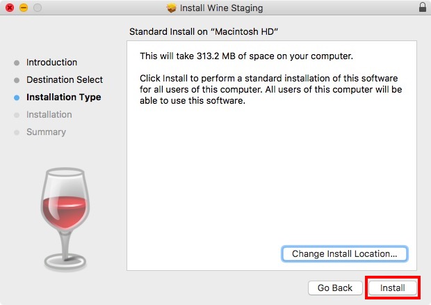 install winestaging