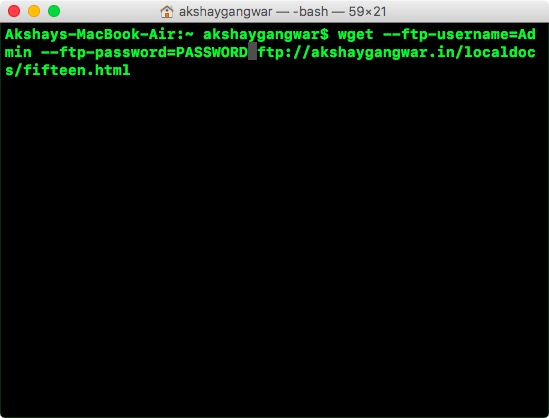 wget ftp auth