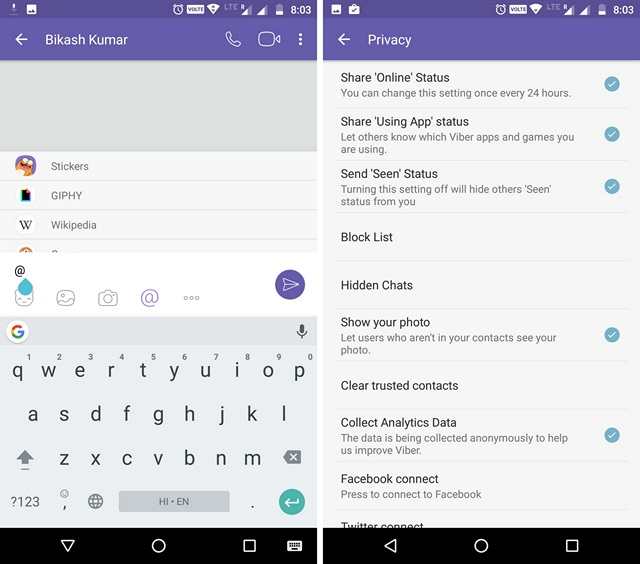Viber WhatsApp Alternative App