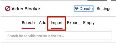 cambiar a la pestaña de importación