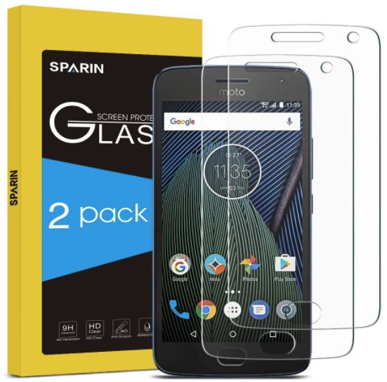 sparin moto g5 plus screen protector