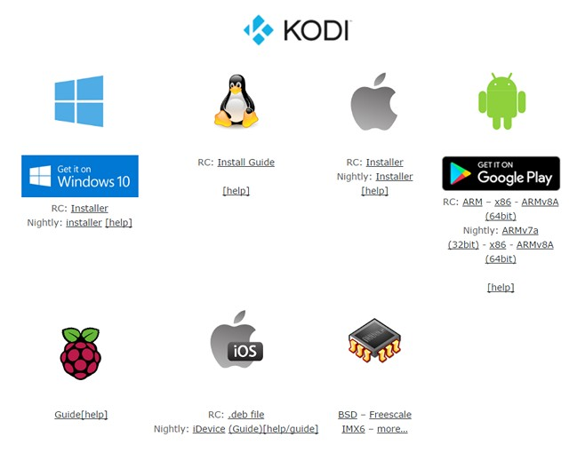 Kodi Platform Availability