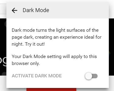 Enable YouTube Dark Mode Chrome