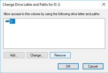 Drive Letter