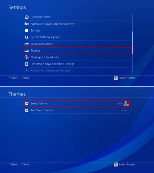 Settings and Themes