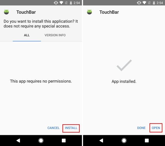Apk Install TouchBar