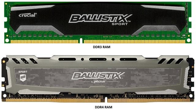 Physical DDR3 vs. DDR4