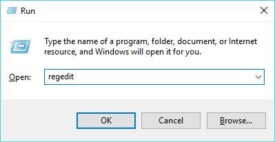 Run Command - Registry Editor