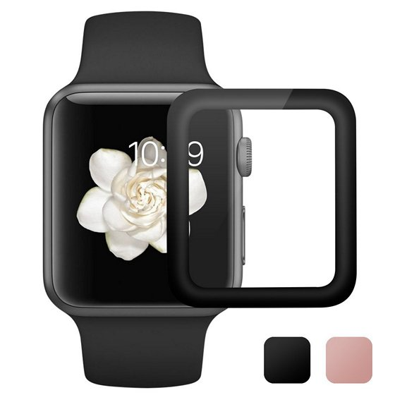Auneos Full Coverage Tempered Glass Screen Protector For Apple Watch