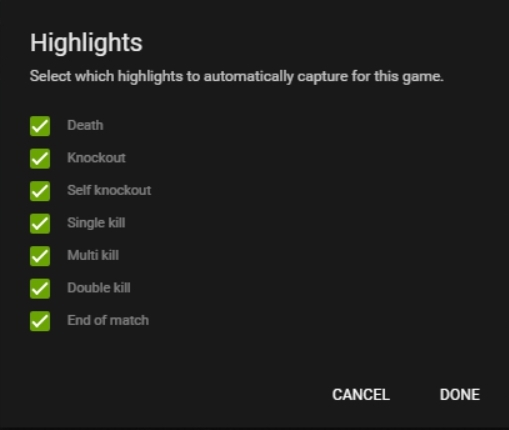 replays how to set a highlight