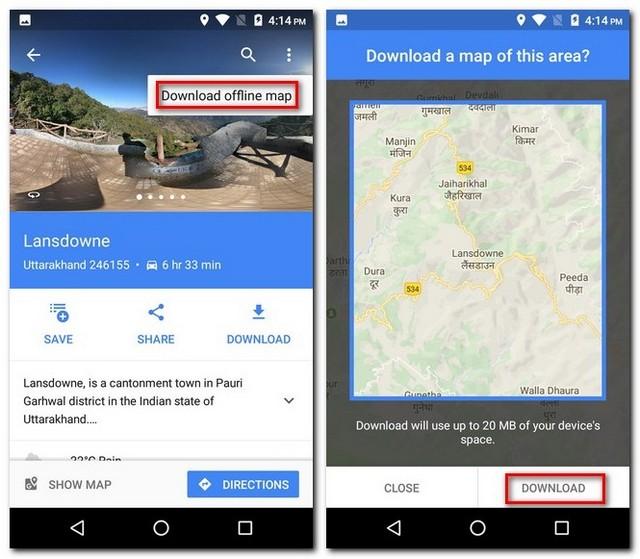 Download Offline Map
