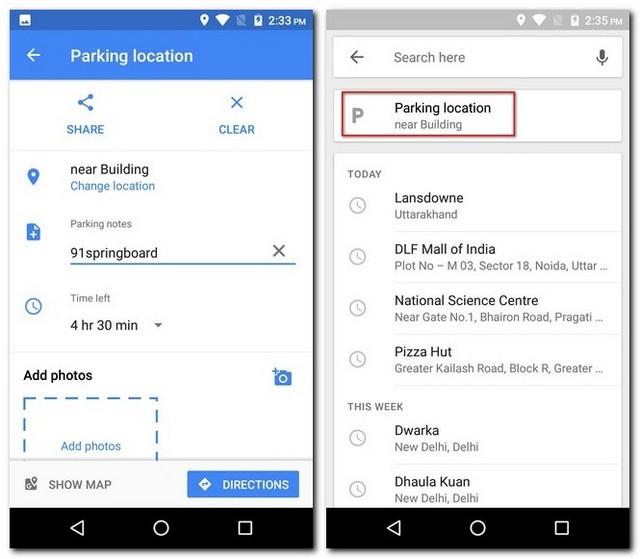 Find Parking Location