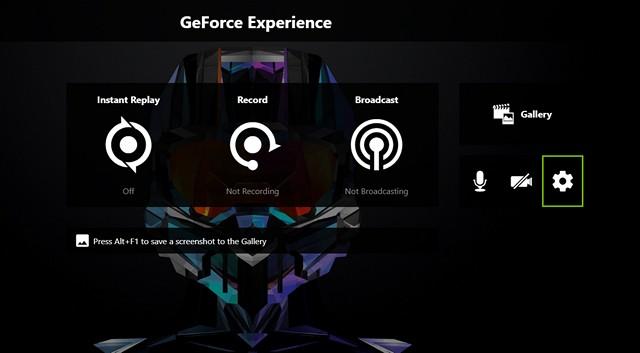 Configuración de GeForce Experience
