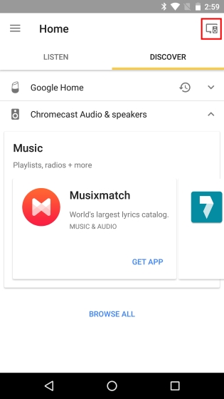Google Home Devices Button