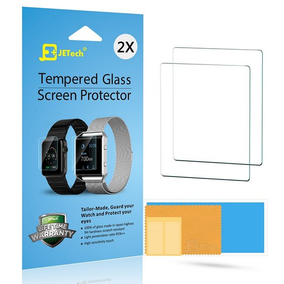 JETech Premium Tempered Glass Screen Protector For Apple Watch