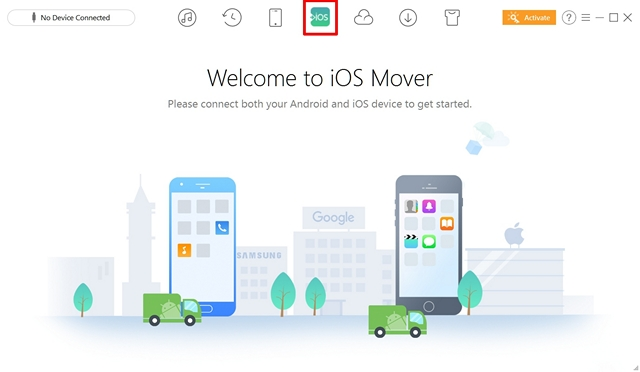 Click on iOS Mover icon