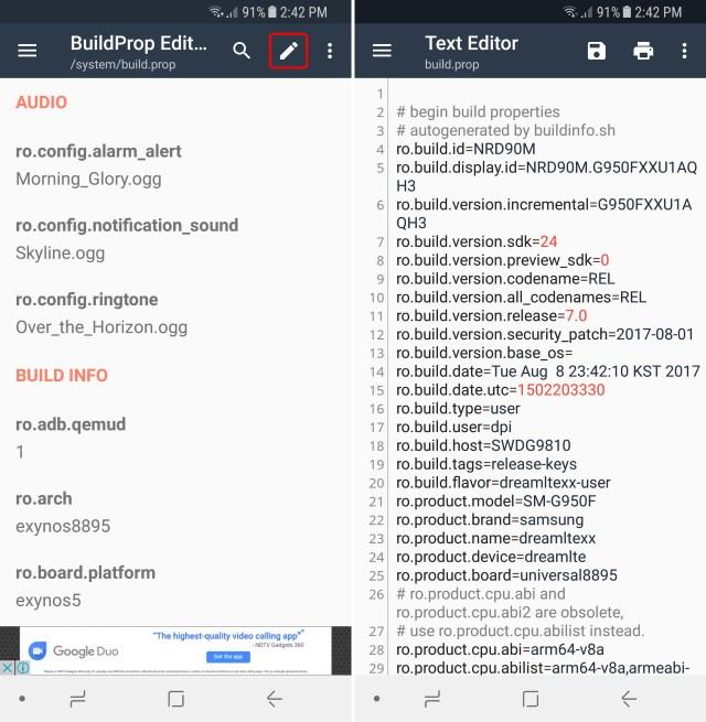 Edit BuildProp File