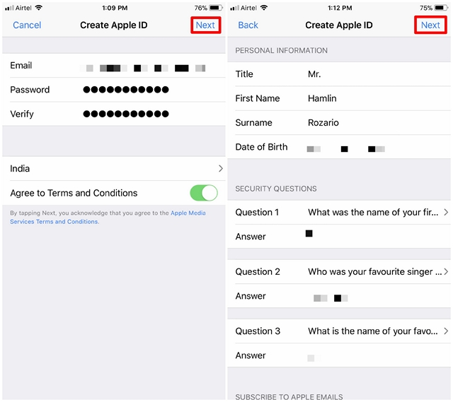 how to create a american apple id