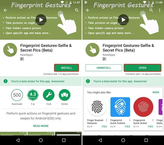 Install Fingerprint Gestures