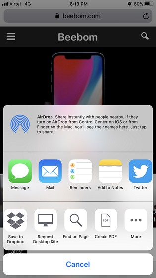 Share Screenshots Quickly