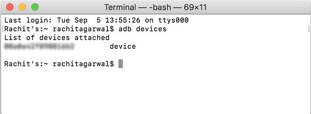 Terminal - ADB Devices