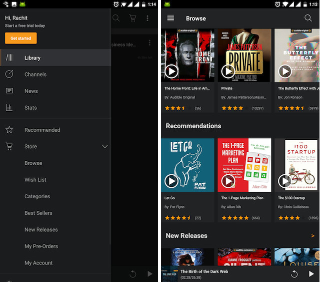 10 best audiobooks apps for android and iphone 2017 beebom