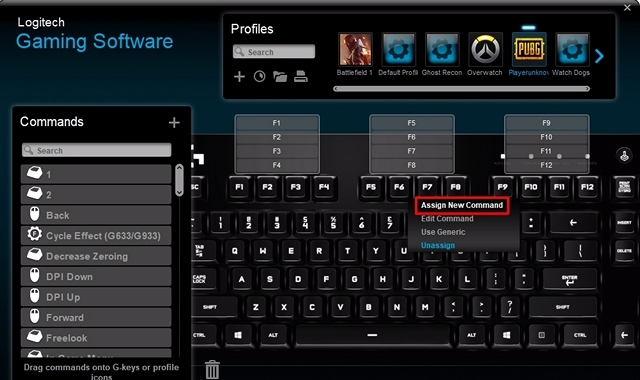 logitech gaming software how to make click macro