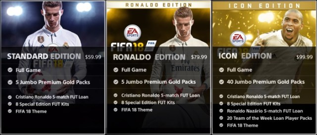 FIFA 18 Editions