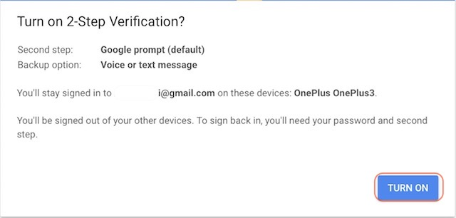 Setting Up Google Prompt For Two-Factor Authentication - step 6