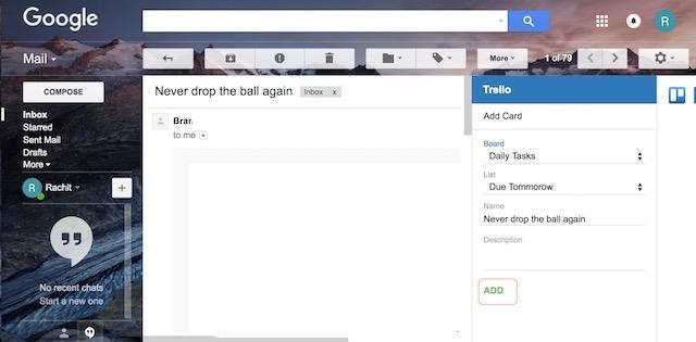 Verwenden Sie Google Mail-Add-Ons - Schritt 3