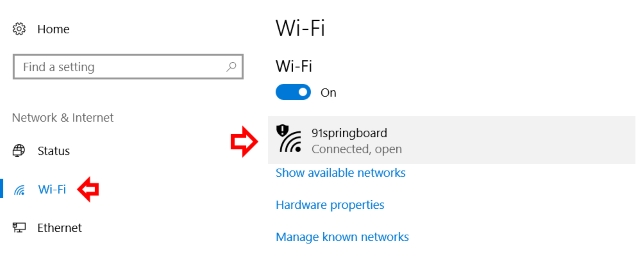 Wifi Connected Wifi