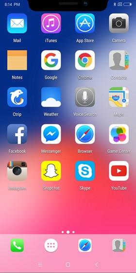 iPhone X-Like Home Screen
