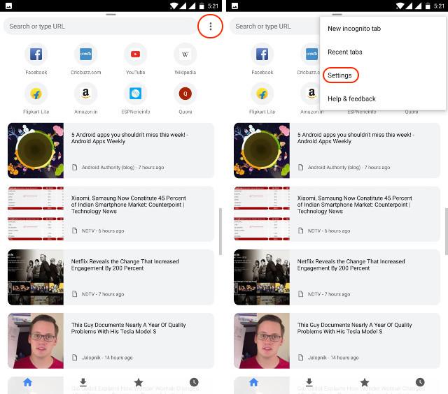 ver la contraseña guardada en chrom en Android paso 1