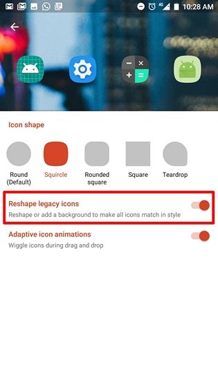 Reshape Legacy icons