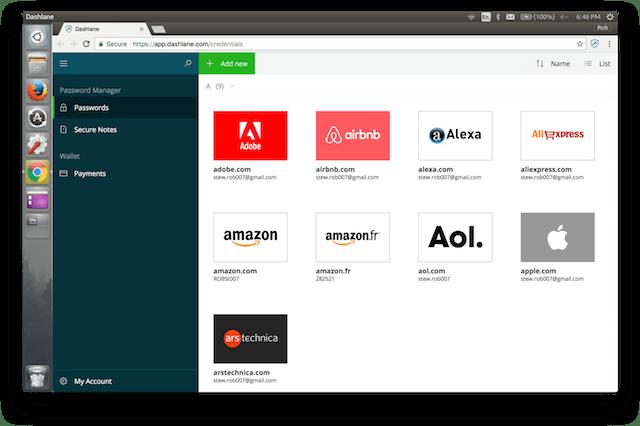dashlane working on ubuntu