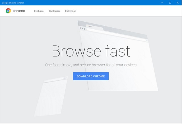 Chrome Installer Windows Store