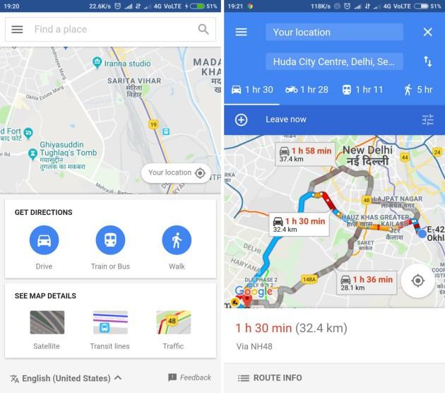 google maps go demo