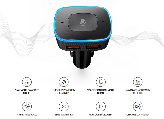 Anker Roav Viva Alexa Powered Bluetooth Car Charger