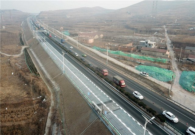 Solar highway in China