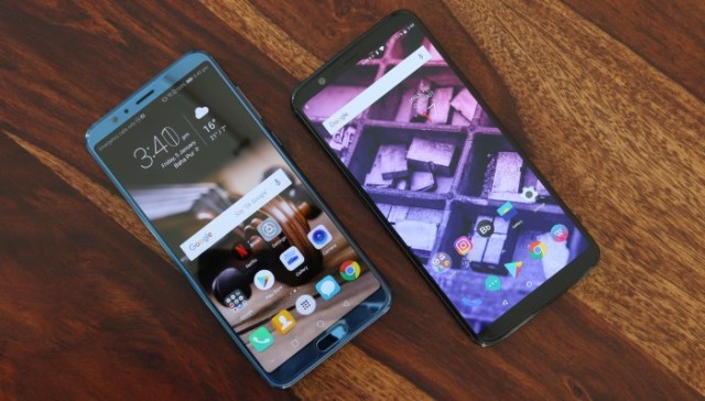 Honor View 10 and OnePlus 5T Display