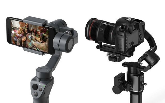 DJI's new range of handheld stabilizers