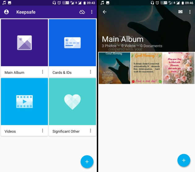 keepsafe android how to put videos