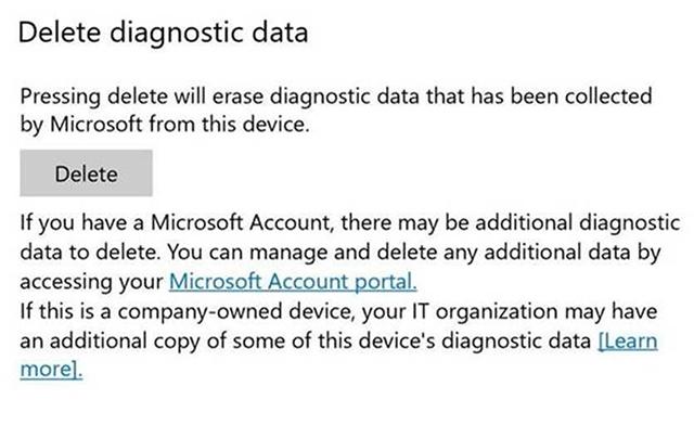 Windows 10 Delete Diagnostic Data
