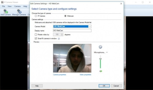 And one of the best software suited for the aforesaid task is IP Camera  Viewer, a webcam ...