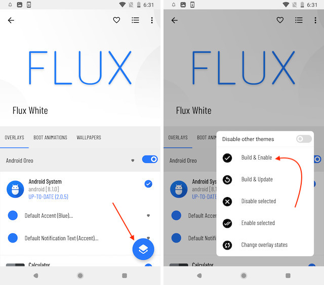 2. Get Android P like Notification Panel and Settings Menu 3